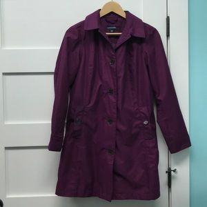 Beautiful dark purple lined trench coat